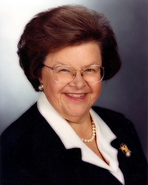 Maryland Senator Barbara Mikulski