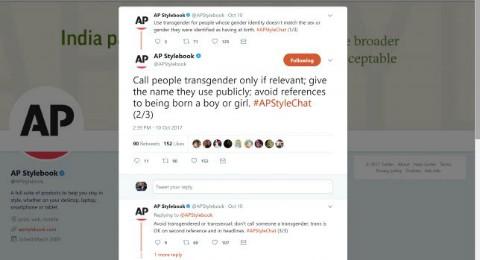 Screenshot of a tweet by the Associated Press